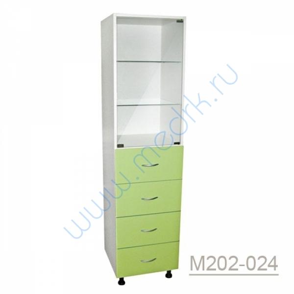 Шкаф одностворчатый медицинский М202-021 с выдвижными ящиками  Вид 4
