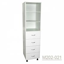 Шкаф одностворчатый медицинский М202-021 с выдвижными ящиками