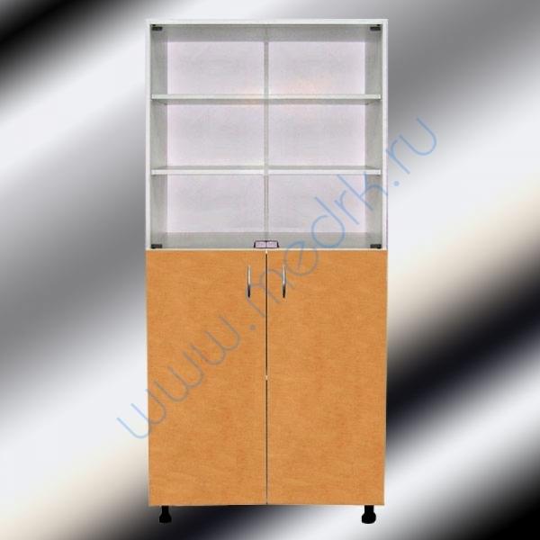 Шкафы двухстворчатые медицинские М202-031 с нижними дверцами  Вид 1