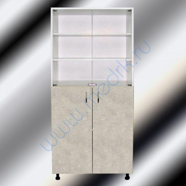 Шкафы двухстворчатые медицинские М202-031 с нижними дверцами  Вид 3