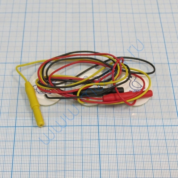 Электрод однораз 23х30мм, PG10S/RU2330W-DIN для новорожд. с кабелем 50 см и разъёмом 1,5мм (уп/3 шт.)  Вид 5