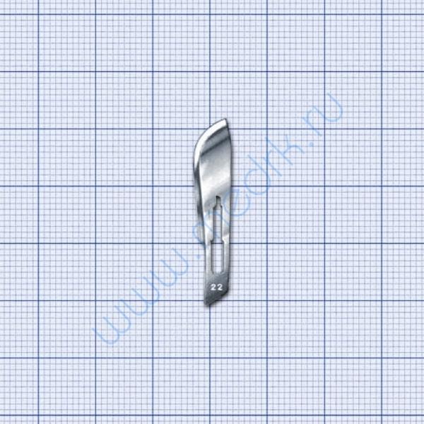 Лезвия для скальпеля №22 одноразовые стерильные  Вид 5