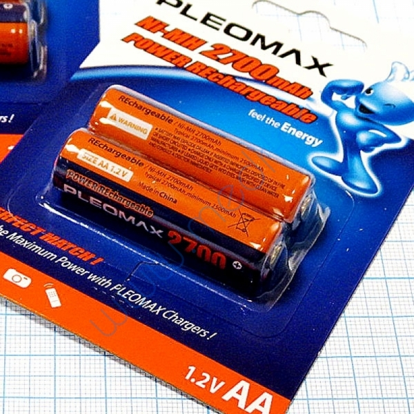 Аккумулятор Pleomax NI-MN, 2700mAh  Вид 2