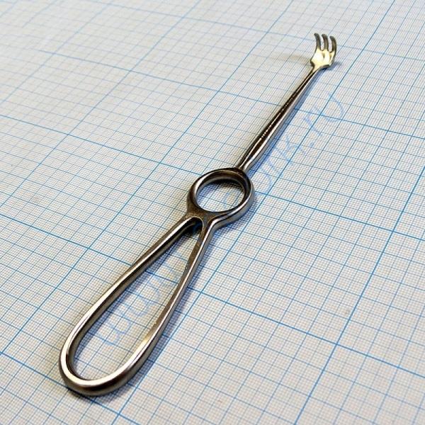 Крючок хирургический трехзубый острый №1 J-19-144B  Вид 1