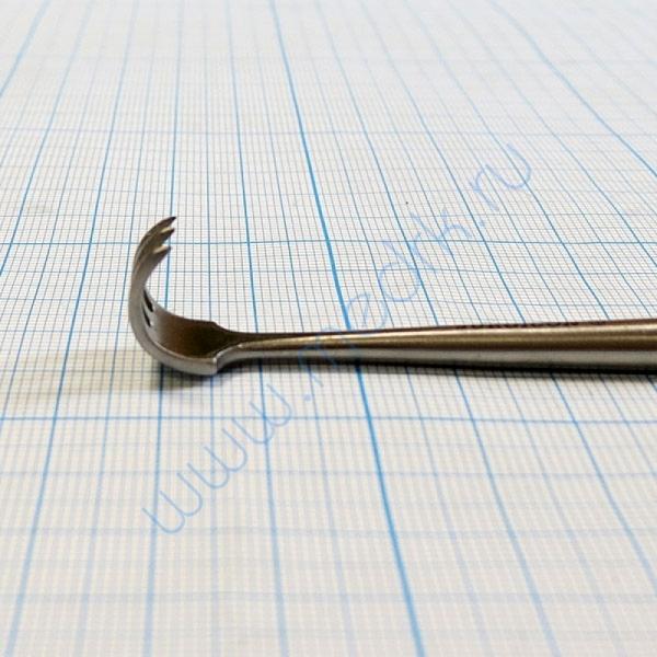 Крючок хирургический трехзубый острый №1 J-19-144B  Вид 6