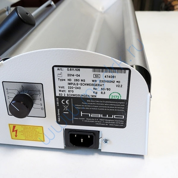 Прибор для спайки стерилизационных пакетов HD260M  Вид 2