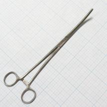 Зажим кровоостанавливающий зубчатый изогнутый №3 J-17-115