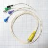 Кабель для подключения на 2 отведений 5 проводов для ЭКГ Кардио Астел