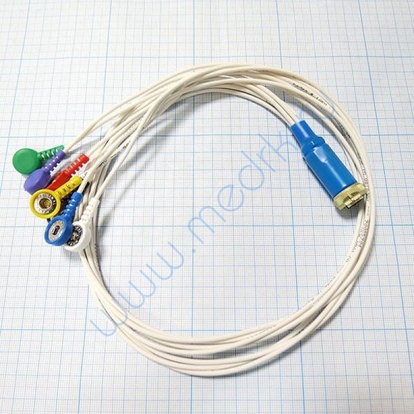 Кабель для подключения на 3 отведения 7 проводов для ЭКГ Кардио Астел