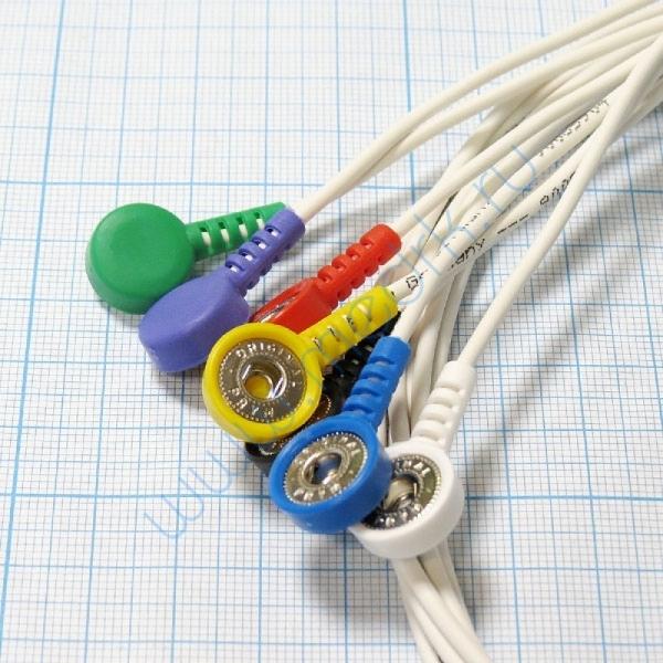 Кабель для подключения на 3 отведения 7 проводов для ЭКГ Кардио Астел  Вид 2