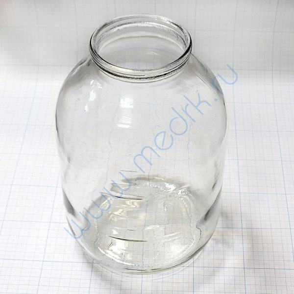 Банка для отсасывателя ОМ-1 (3 литра)  Вид 1