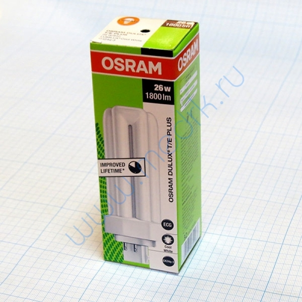 Лампа Osram Dulux T/E 26W/21-840 PLUS GX24q-3  Вид 1