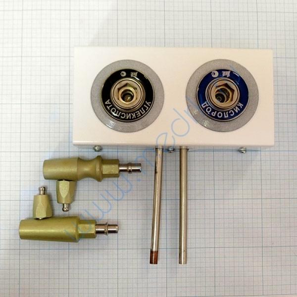Система клапаная быстроразъемная СКБ-1 на 2 газа (кислород, углекислота)  Вид 2
