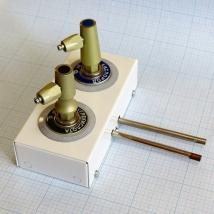 Система клапаная быстроразъемная СКБ-1 на 2 газа (кислород, углекислота)