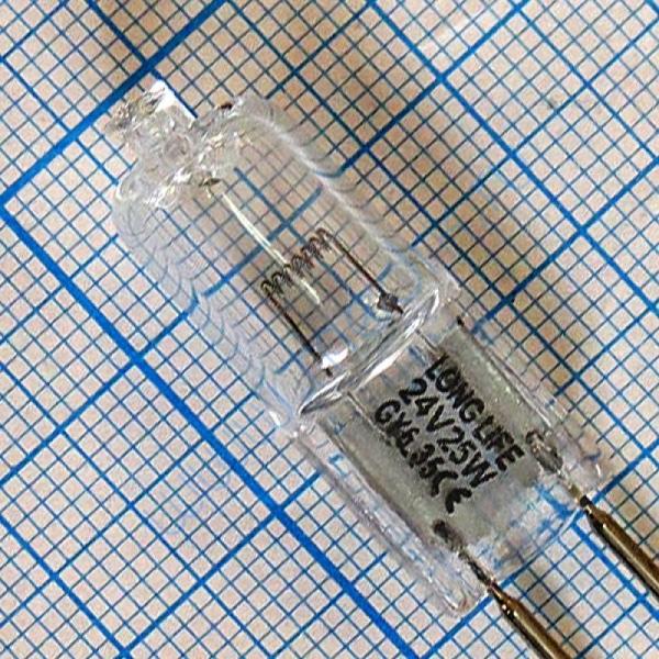 Лампа галогенная KGM 24V 25W GY6,35  Вид 2