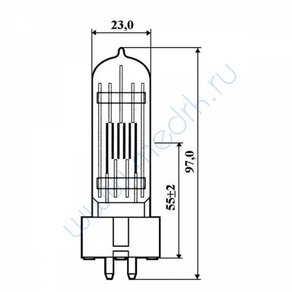 Лампа КГМ 220-230-500 GX9,5  Вид 1