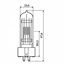 Лампа КГМ 220-230-500 GX9,5