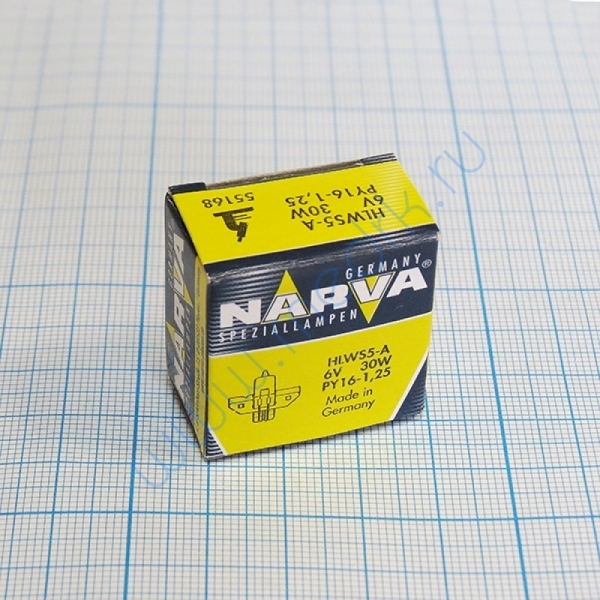 Лампа Narva 55168 HLWS5-A 6V 30W PY16-1,25  Вид 4
