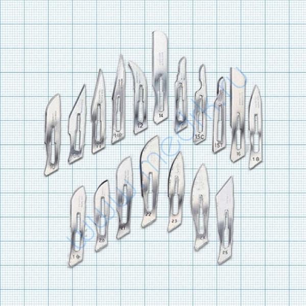 Лезвие одноразовое №15 для скальпеля  Вид 1