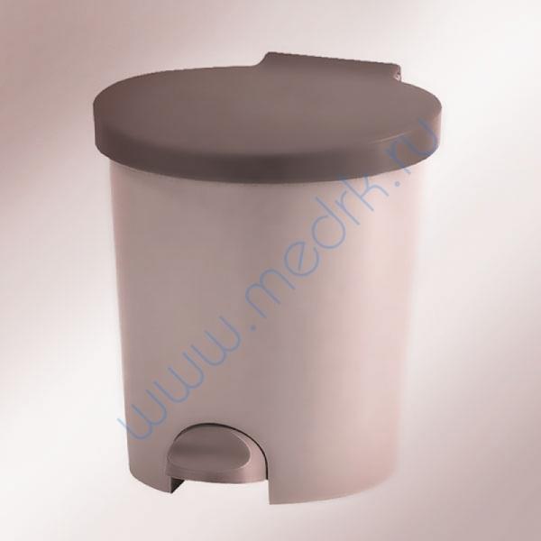 Ведро для мусора 10 л пластмассовое с педалью  Вид 1