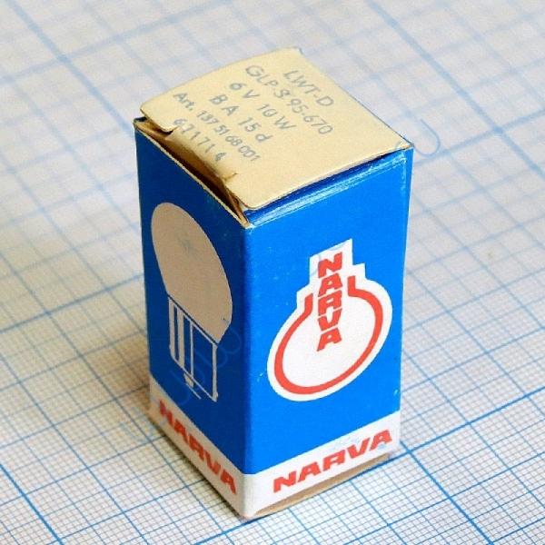 Лампа Narva 67171 6V 10W B15d