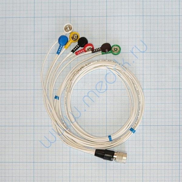 Кабель для подключения одноразовых электродов на 3 отв. 7 электродов для КТ-04-8, КТ-04АД-3(М) (12 pin)  Вид 2