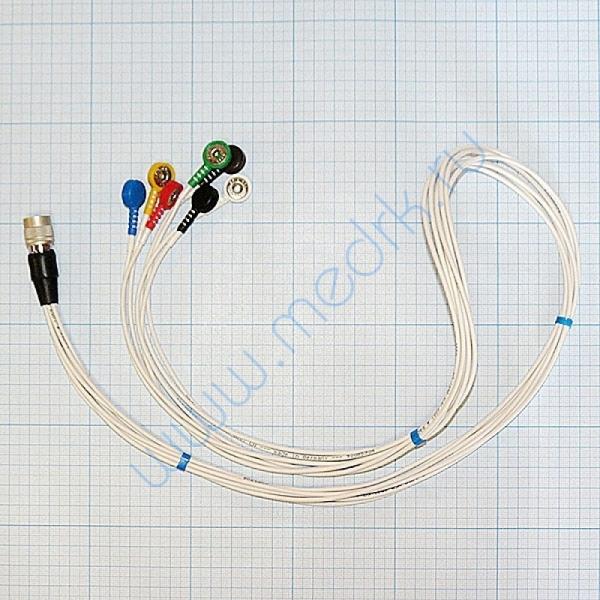Кабель для подключения одноразовых электродов на 3 отв. 7 электродов для КТ-04-8, КТ-04АД-3(М) (12 pin)  Вид 3