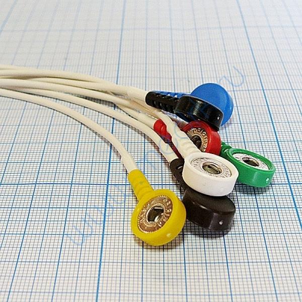 Кабель для подключения одноразовых электродов на 3 отв. 7 электродов для КТ-04-8, КТ-04АД-3(М) (12 pin)  Вид 5