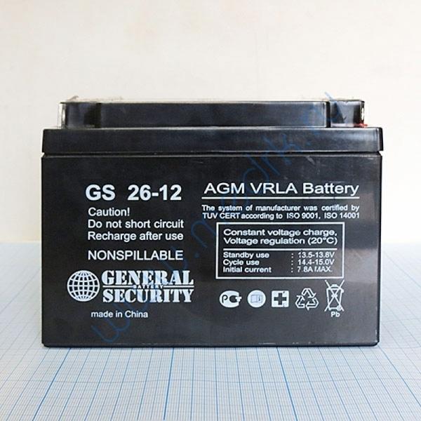 Батарея аккумуляторная AN-12-26 (12В; 26 Ач)  Вид 3