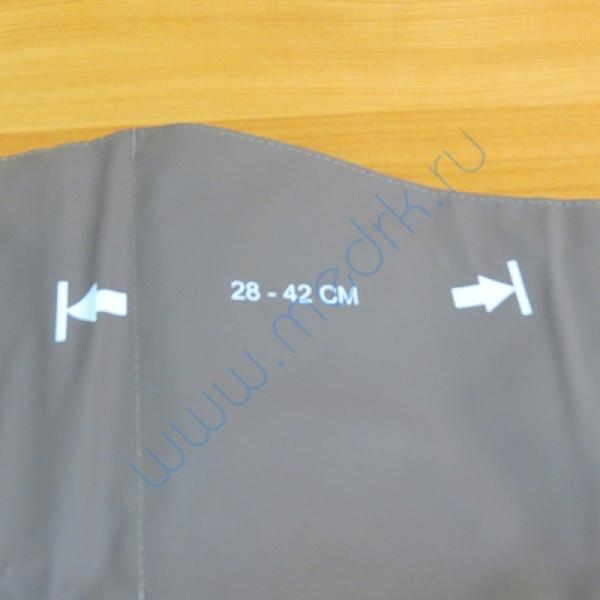 Манжета однотрубочная без кольца, большая, для окружности плеча 28-42см  Вид 3