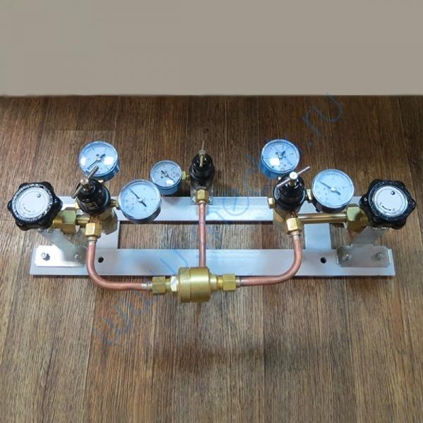 Щит автопереключения газовых рамп с сетевым редуктором (углекислый газ)  Вид 1