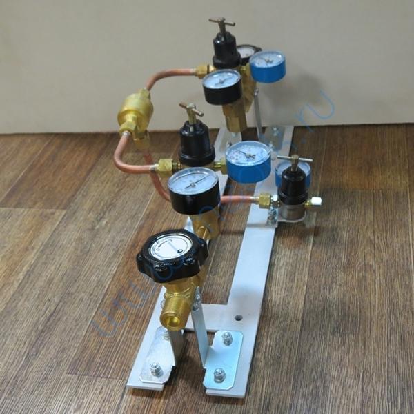 Щит автопереключения газовых рамп с сетевым редуктором (углекислый газ)  Вид 2