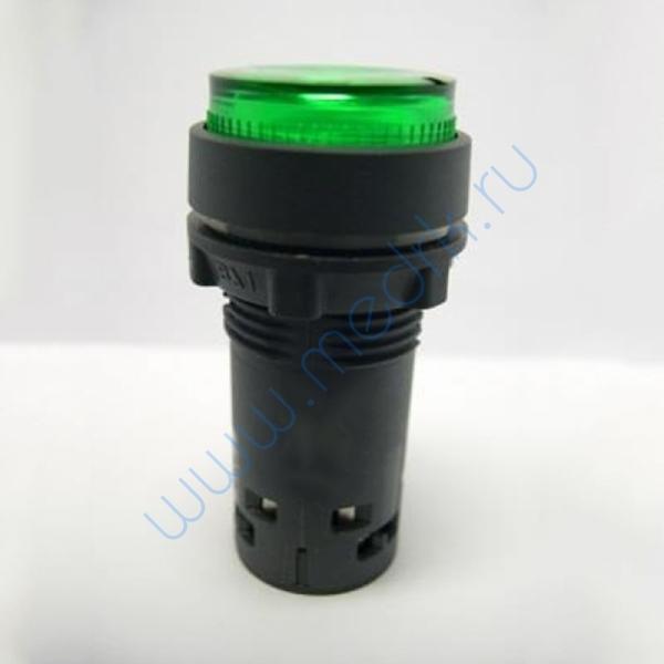 Кнопка с подсветкой с фиксацией зеленая 230В, 50Гц, ХВ7ЕН03М1Р