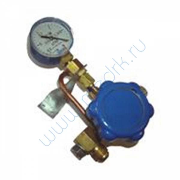 Клапан запорный К-1412-16 с манометром (для коробки поэтажной)  Вид 1