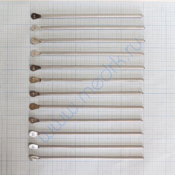 Бужи уретральные металлические прямые №16-27  Вид 1