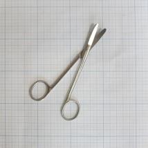 Ножницы изогнутые хирургические 150 мм 13-210