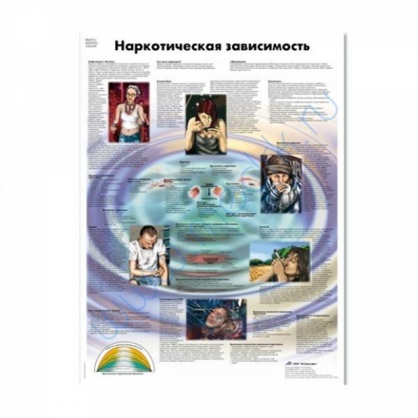 Плакат Наркотическая зависимость 3B Scientific