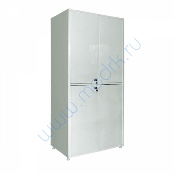 Шкаф двустворчатый ШМ-04-МСК (700х320х1655) двухсекционный, металлический