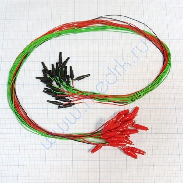 Комплект электродов для энцефалографии Эл ЭГМ (электрод мостиковый - 22 шт, электрод ушной - 2 шт, провода - 24 шт)  Вид 1
