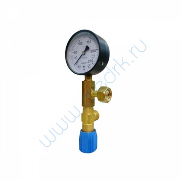Узел измерительный (манометр 250 атм 100 мм; клапан продувочный)  Вид 1