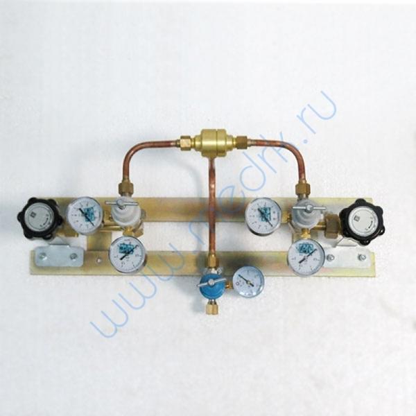 Щит автопереключения газовых рамп с сетевым редуктором (закись азота)  Вид 1