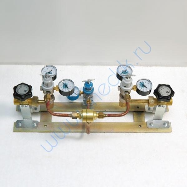 Щит автопереключения газовых рамп с сетевым редуктором (закись азота)  Вид 5