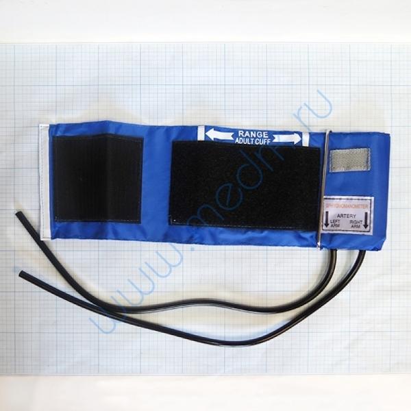 Манжета с камерой для взрослых двухтрубочная со скобой (22-32) нейлон