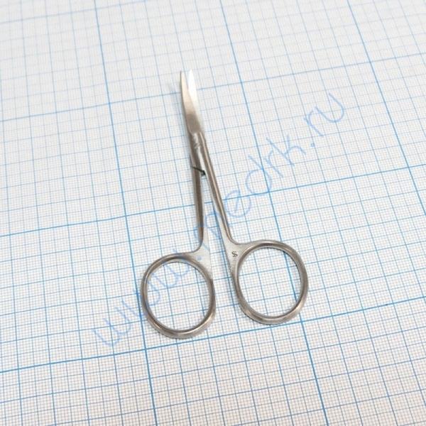 Ножницы остроконечные вертикально-изогнутые 100 мм 13-442 (н-21)  Вид 1