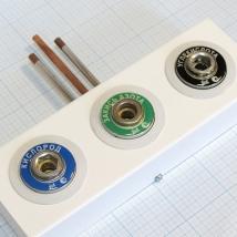 Система клапанная быстроразъемная СКБ-1 на 3 газа (кислород+закись азота+углекислота)