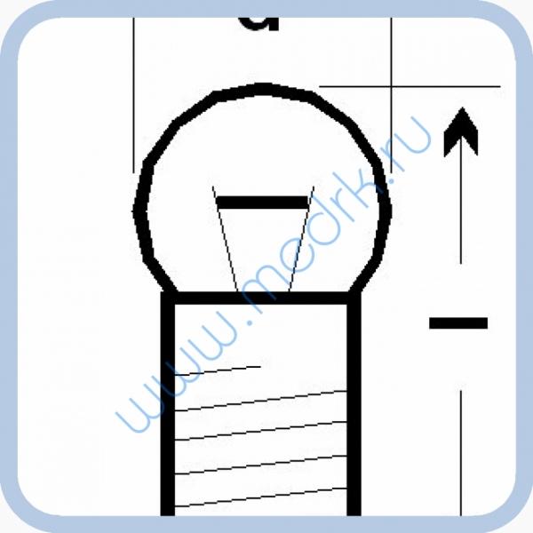 Лампа накаливания МН 13,5-0,16  Вид 2