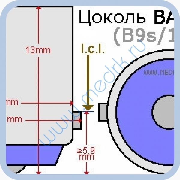 Лампа накаливания миниатюрная МН 26-0,12 BA9s/14  Вид 1