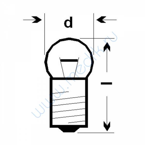 Лампа накаливания МН 6,3-0,3  Вид 2