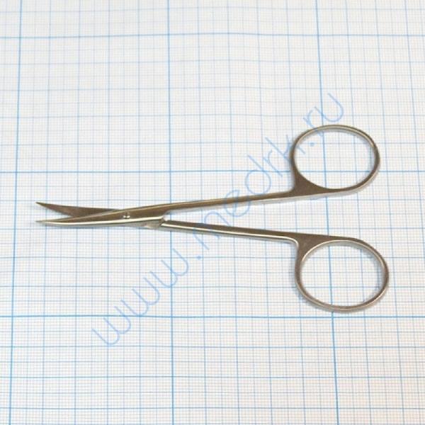 Ножницы глазные вертикально-изогнутые о/к 13-460 Iris  Вид 1