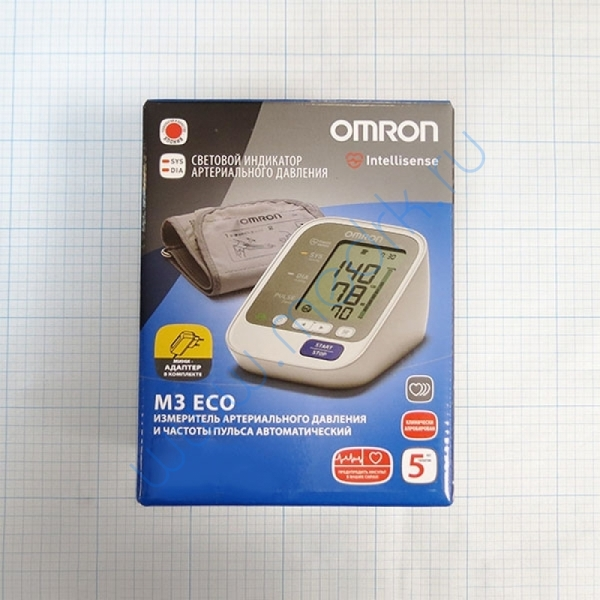 Тонометр автоматический Omron M3 Eco c адаптером  Вид 2